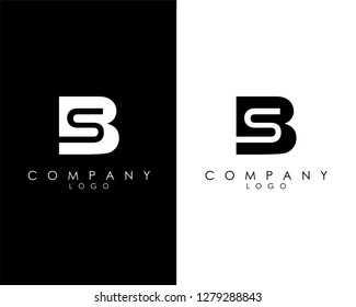 Initial Letters bs/sb abstract company Logo Design vector