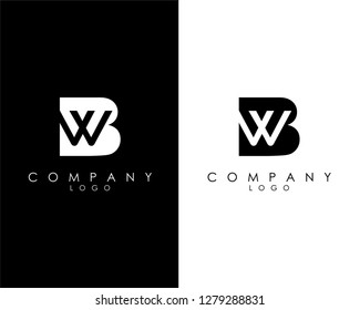 Initial Letters bw/wb abstract company Logo Design vector