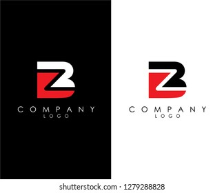 Initial Letters bz/zb abstract company Logo Design vector