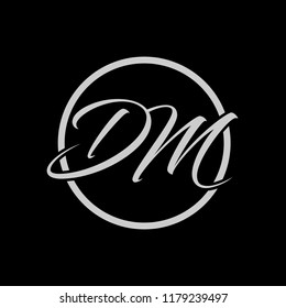 Initial letters D M elegant logo, Modern Logo Design Vector