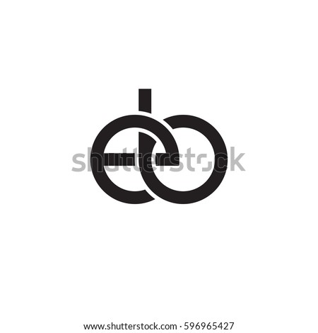 initial letters eb round linked chain stock vector royalty free