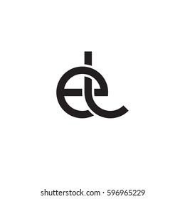 Initial letters el, round linked chain shape lowercase logo modern design monogram black