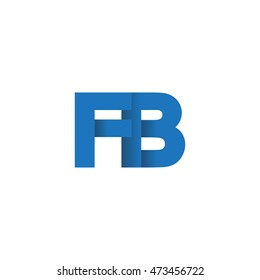 Initial letters FB overlapping fold logo blue