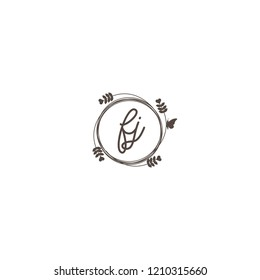 initial letters fj beauty spa logo design, with flower, love and butterfly illustration