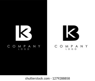Initial Letters kb/bk abstract company Logo Design vector