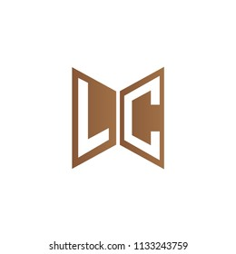 Initial Letters LC Logo Design Linked Logo, Hexagonal Shape