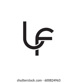 Initial letters lf, round linked overlapping lowercase logo modern design monogram black