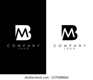 Initial Letters mb/bm abstract company Logo Design vector
