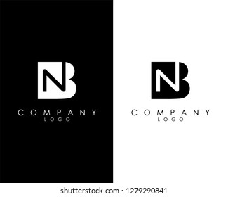 Initial Letters nb/bn abstract company Logo Design vector