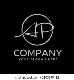 Initial letters A P elegant logo, Modern Logo Design Vector