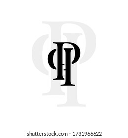 Initial letters pp linked monogram logo vector. Business logo monogram with two overlap letters inside circle isolated on white background.