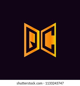 Initial Letters QC Logo Design Linked Logo, Hexagonal Shape