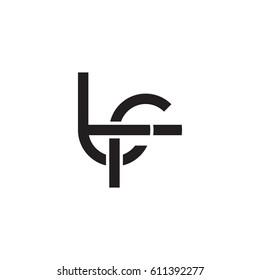 Initial letters tf, round overlapping chain shape lowercase logo modern design monogram black