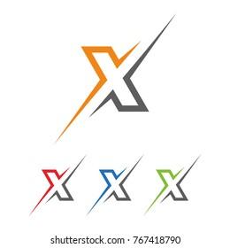 Initial letters X elegant logo, Modern Logo Design Vector