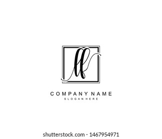 Initial LF beauty monogram and elegant logo design, handwriting logo of initial signature, wedding, fashion, floral and botanical with creative template.