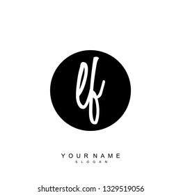 Initial LF handwriting logo vector