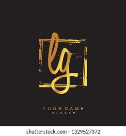 Initial LG handwriting logo vector