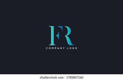 Initial Linked Letter FR, RF Logo Design vector Template. Creative Abstract FR Logo Design Vector Illustration
