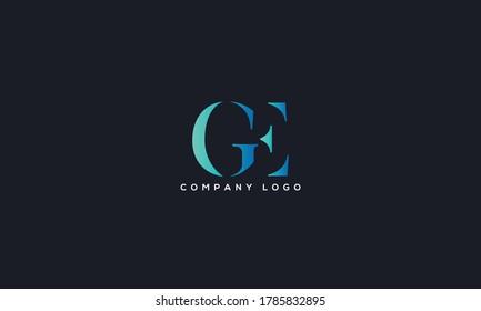 Initial Linked Letter GE Logo Design vector Template. Creative Abstract GE Logo Design Vector Illustration
