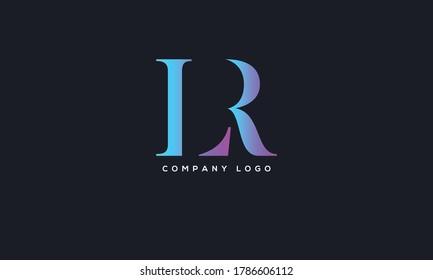 Initial Linked Letter LR Logo Design vector Template. Creative Abstract LR Logo Design Vector Illustration