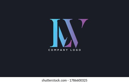 Initial Linked Letter LW Logo Design vector Template. Creative Abstract LW Logo Design Vector Illustration