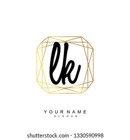 Initial LK handwriting logo vector