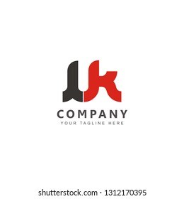 Initial LK Logo Design Vector