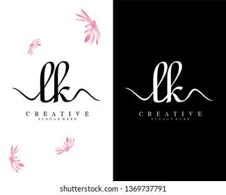 initial lk/kl handwriting logo template