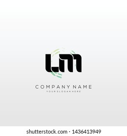 Initial LM abstract logo design vector.