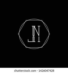 Initial LN NL L letter logo design in black background