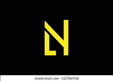 Initial LN NL LY YL modern monogram and elegant logo design, Professional Letters Vector Icon Logo on black background.