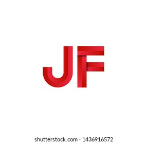 Initial logo 2 letters red vector JF