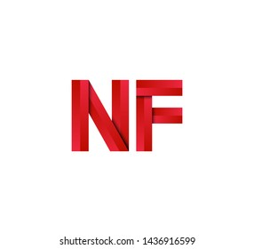Initial logo 2 letters red vector NF