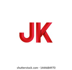 Initial logo 2 letters red vector JK