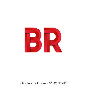 Initial logo 2 letters red vector BR