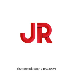 Initial logo 2 letters red vector JR