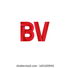 Initial logo 2 letters red vector BV