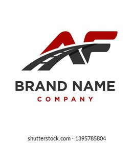 initial logo AF road your company