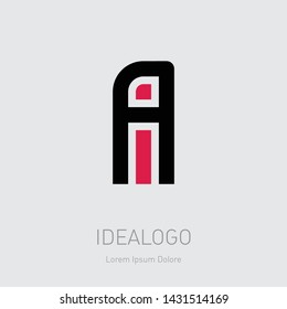 A and I initial logo. AI initial monogram logotype. IA - Vector design element or icon.