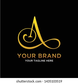 initial logo as, al, atl, la, a with the concept of luxury, feminine, simple can be categorized as a fashion brand, industry, jewelry, agency, and personal branding - Vector