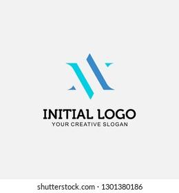 Initial Logo AV,VA, vector illustration