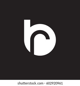 initial logo br, rb, r inside b rounded letter negative space logo white black background