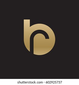 initial logo br, rb, r inside b rounded letter negative space logo gold