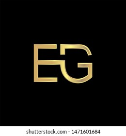 EG Initial logo Capital Letters Gold colors