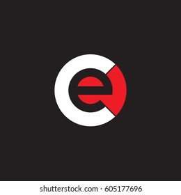 initial logo ce, ec, e inside c rounded letter negative space logo white red black background