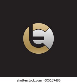 initial logo ct, tc, t inside c rounded letter negative space logo gold silver