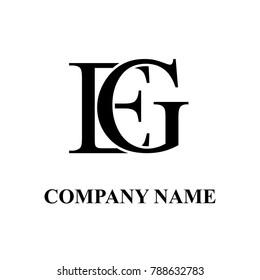 eg initial logo design
