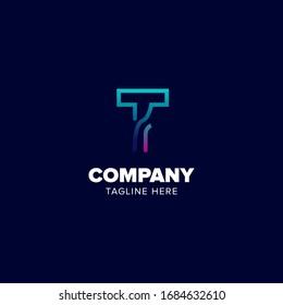 Initial Logo Design Alphabet T