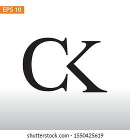 Initial logo Design CK, creative concept logo initials