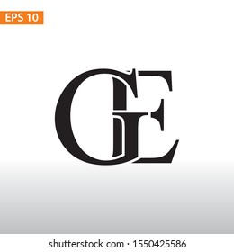 Initial logo Design GE, creative concept logo initials